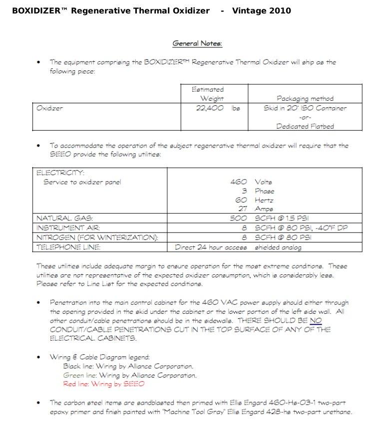Alliance Boxidizer (TM) Regenerative Thermal Oxidizer for sale